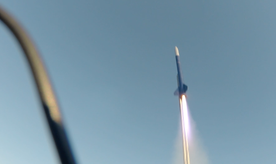 Rocket launch at the Allandale pit. Rocket traveled to an altitude of ~6000ft with an average speed of 1084 Km/hr.