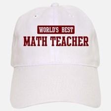 worlds_best_math_teacher_baseball_baseball_cap